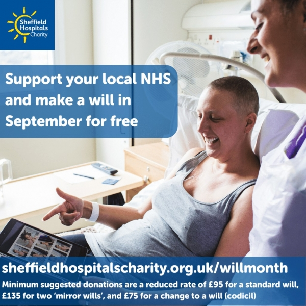 Bell & Buxton support Sheffield Hospitals Charity Will Month | Bell