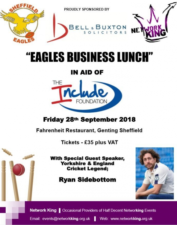 "We are proud to support the ""Eagles Business Lunch"""