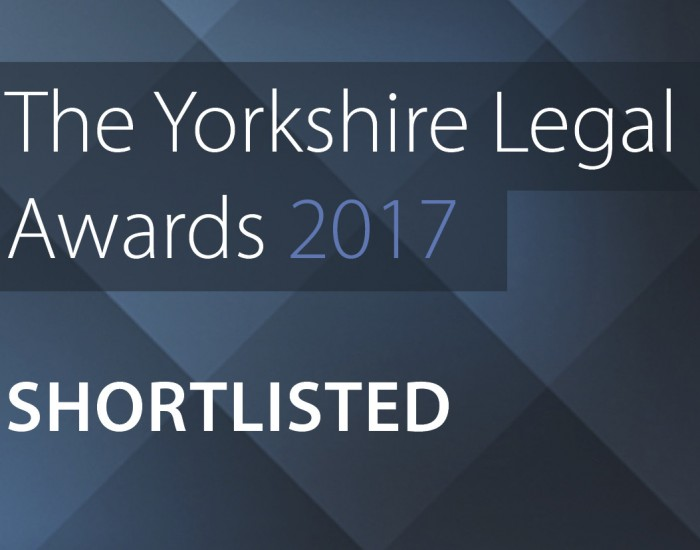 Shortlisted for Yorkshire Legal Awards!