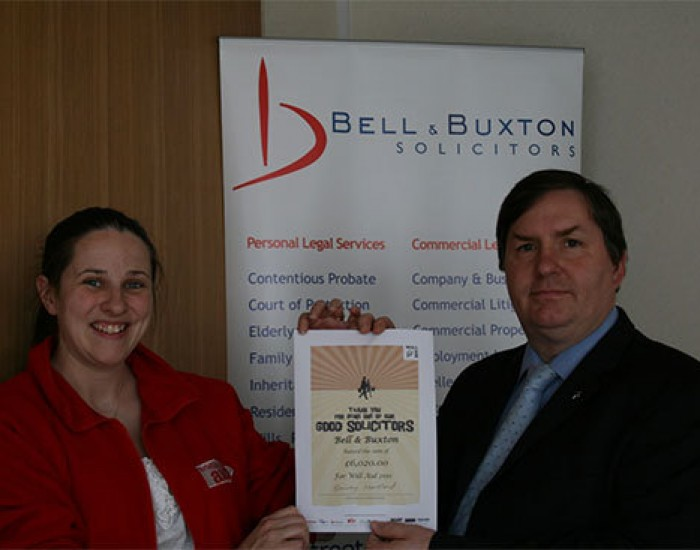 Bell & Buxton Solicitors Raise Thousands of Pounds For Will Aid