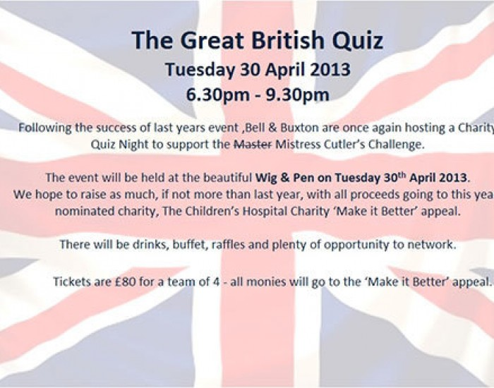 The Great British Quiz - Charity Quiz Night